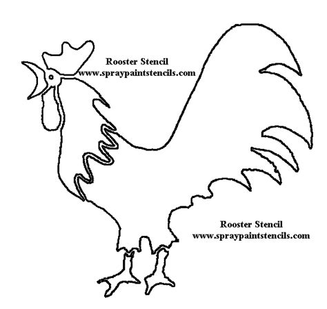 rooster stencils free images