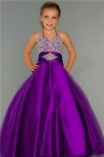 cute ball gown halter purple tulle beading flower