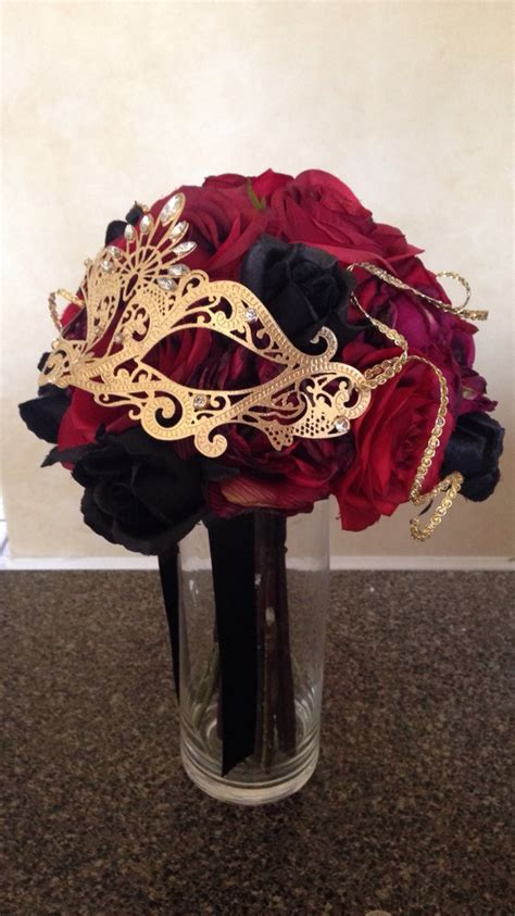 theme black rose red and black rose bridal bouquet for a red black and