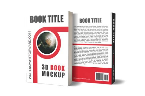 book mockup paperback  writers pay