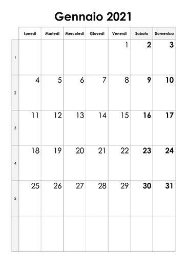 calendario gennaio  calendariosu