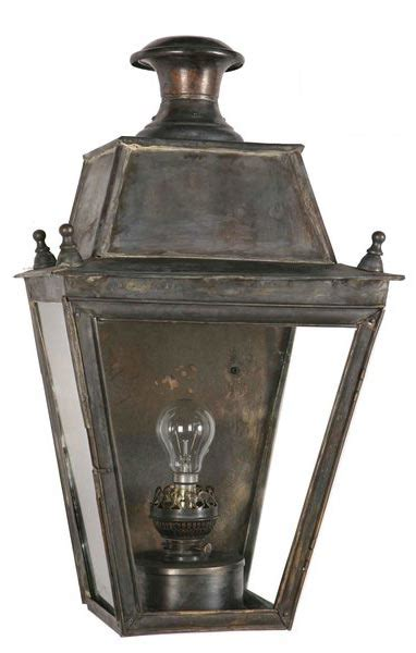 Period Outdoor Lighting Balmoral Large Brass Flush Outdoor Wall Lantern
