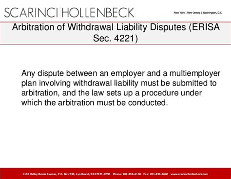 section 17 arbitration act withdrawal liability the great imposition on contributing