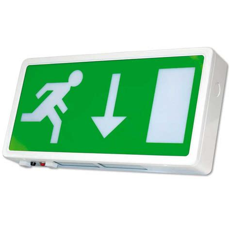 exit sign light box 8 watt emergency illuminated exit sign box 3 hour maintained