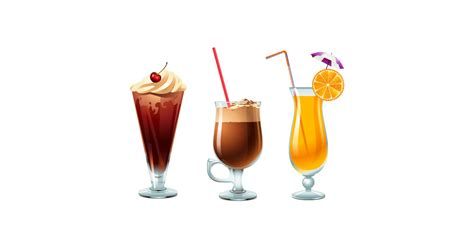 glass  summer drinks  vector  png  graphic cave