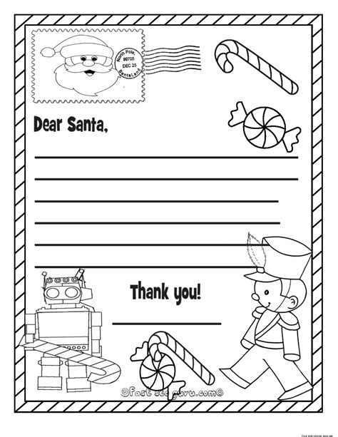free coloring pages of letters to santa printable christmas wish list to santa claus for kids for