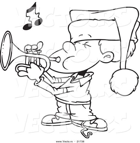 holiday music coloring pages christmas trumpet colouring pages