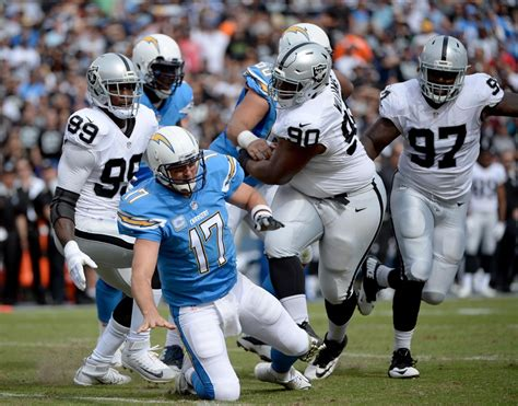 chargers raiders philip rivers photos photos oakland raiders v san diego