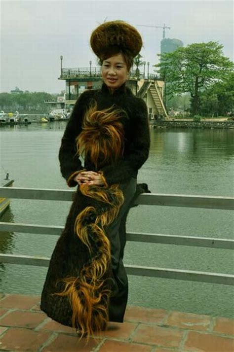 Dress Made From Human Hair Would You Wear It by Dress Made From One Million Meters Of Human Hair 11 Pics