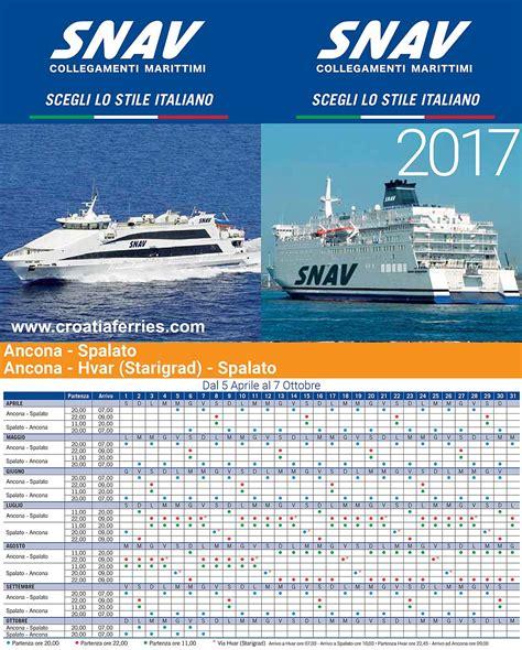 ancona ferry snav ferries schedules for 2017 croatia ferries