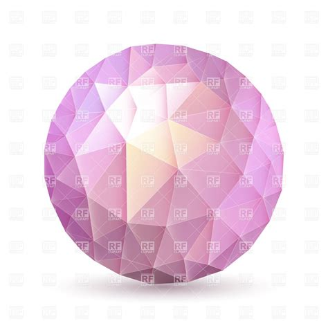 Multi Fauceted by Multifaceted Sphere In Pink And Purple Shades Vector Clipart Image 34860 Rfclipart