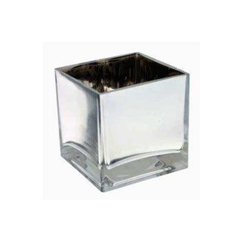 mirror cube vase