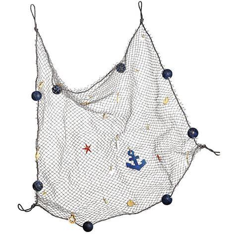 kinderzimmer deko segel fischernetz 100 x 80 cm fischernetz