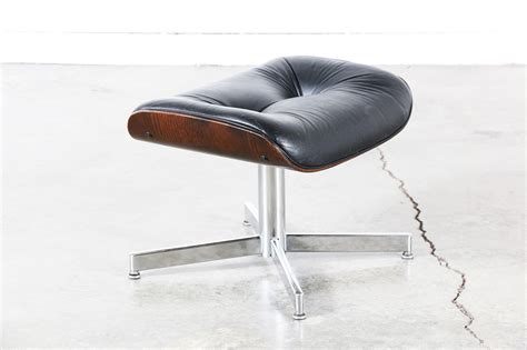 Black Leather Lounge Chair by Eames Style Black Leather Lounge Chair Vintage Supply Store