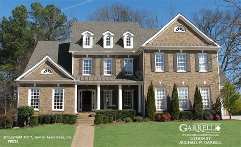 Garrell Associates Inc Delegal House Plan 98035 Front Colonial Williamsburg House Plans