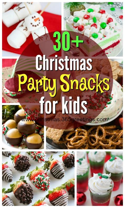childrens christmas party foods snacks for celebration all about