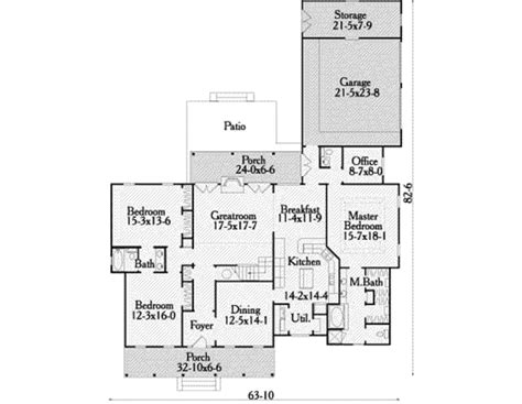 house plan 2428c the winthrop floor plan details southern style house plan 3 beds 2 5 baths 2428 sq ft