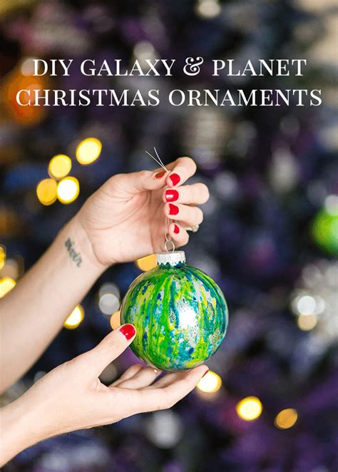 diy galaxy and planet christmas ornaments shrimp salad
