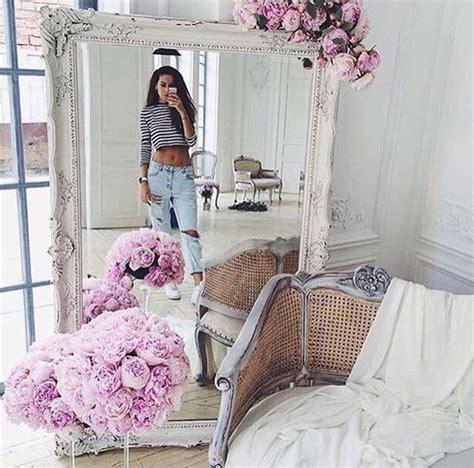 vintage design home instagram home accessory white mirror flowers tumblr home decor