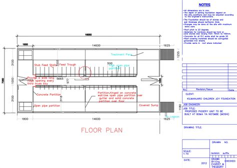Piggery Floor Plan Design | floor plan of piggery kilimanjaro children joy foundation