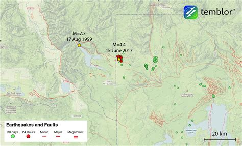earthquake yellowstone m 4 4 earthquake highlights in progress seismic swarm in