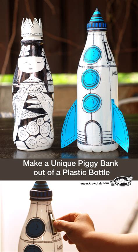 How To Make A Piggy Bank Out Of Paper Mache - krokotak make a unique piggy bank out of a plastic bottle