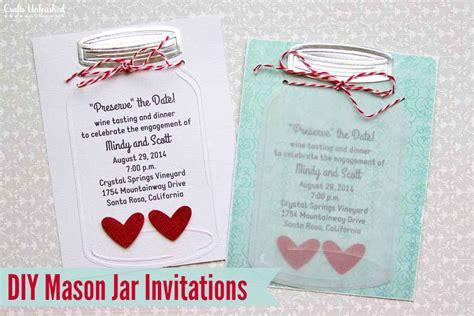 cheap make your own wedding invitations jar wedding invitations crafts unleashed