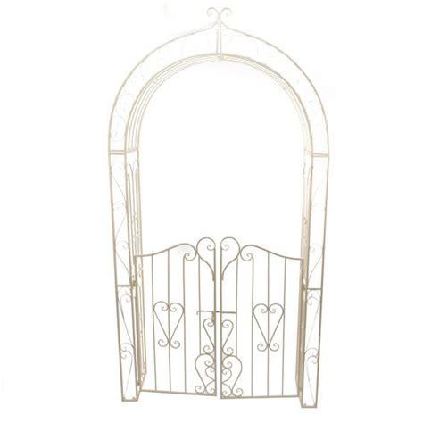 arche de jardin lila style fer forg 233 ecru meuble d