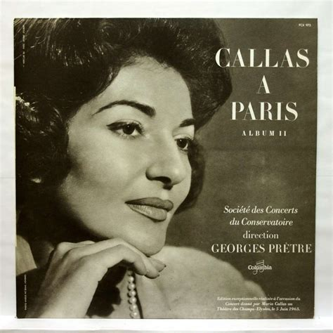 maria callas paris callas in paris vol 2 by maria callas georges pretre lp