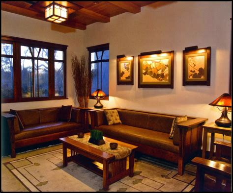 Arts And Crafts Style Living Room by Living Room Interesting Craftsman Style Living Room