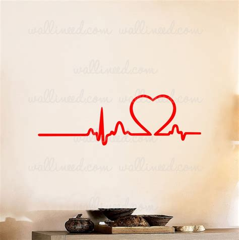 Yellow Kitchen Walls by Love Rhythm Heart Beat Wall Decal