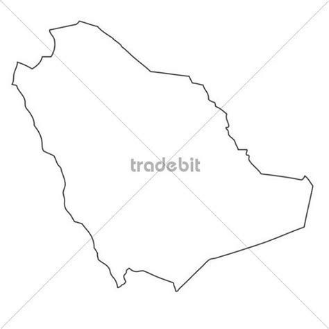 Saudi Map Outline by Outline Map Of Saudi Arabia Places