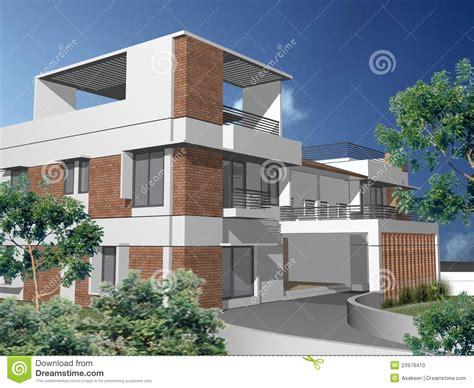 home design 3d balcony 3d duplex house stock photo image 23979410
