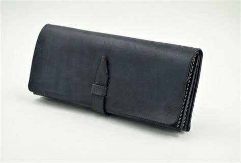 Goods Wallet 402 Black handmade vintage black minimalist leather phone clutch