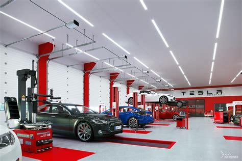 car workshop led lighting visualization  corner sp  oo