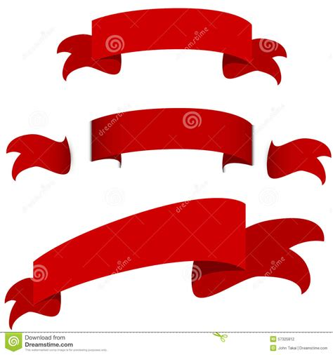 Set Ribon ribbon banner set vector royalty free stock image