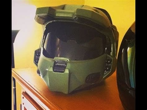 How To Make A Master Chief Helmet Out Of Paper - how to tutorial halo master chief motorcycle helmet