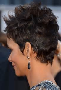 back view of halle berry hair halle berry back of hair short hairstyle 2013