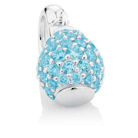 Silver Dangle With Cubic Zirconia P 1154 aqua cubic zirconia sterling silver hearts dangle charm