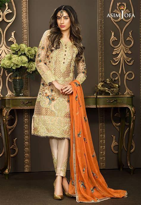 Pakistani Fancy Dresses Asim Jofa Mysorie Chiffon Collection 2018 19