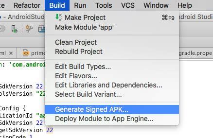 android studio generate apk c 243 mo exportar un apk en android studio