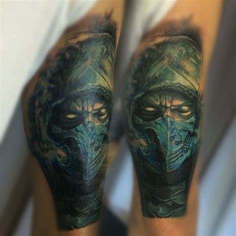sub zero tattoo subzero portrait on arm best ideas gallery