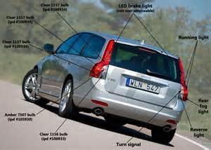 Volvo V50 Bulbs Taillight Bulb Guide 2008 2012 V50