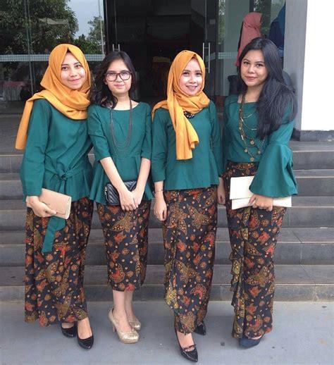 Stelan Batik Thalia 100 gambar baju batik kutu baru 2017 dengan batik setelan rok dan blus terbaru 2017