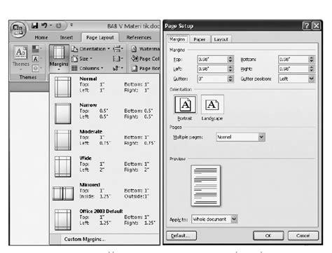 tab page layout adalah bagaimana cara mengatur ukuran kertas dan orientasi cetak