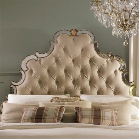 french louis xv style tufted upholstered mirrored queen