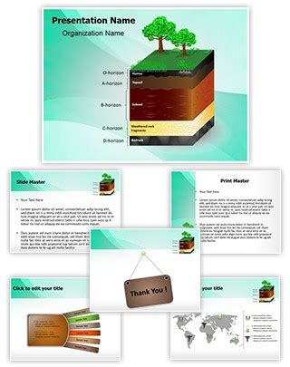 powerpoint themes soil professional soil layers editable powerpoint template