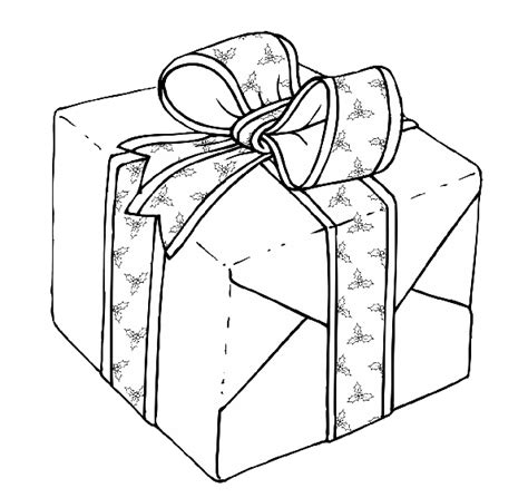 christmas gifts coloring pages kids