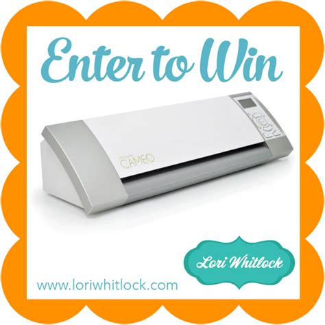 Silhouette Cameo Giveaway - silhouette promotion cameo giveaway 187 lori whitlock