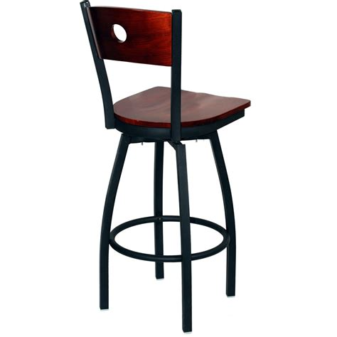 metal bar stools swivel with back interchangeable back metal swivel bar stool with a circled